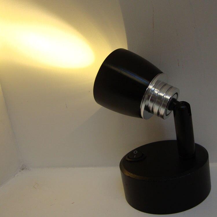 Маленький аккумулятор мощность светодиодный прожектор освещает шкаф Jewelry шкаф стол Витрина украшения творческий черный-ZA SD73