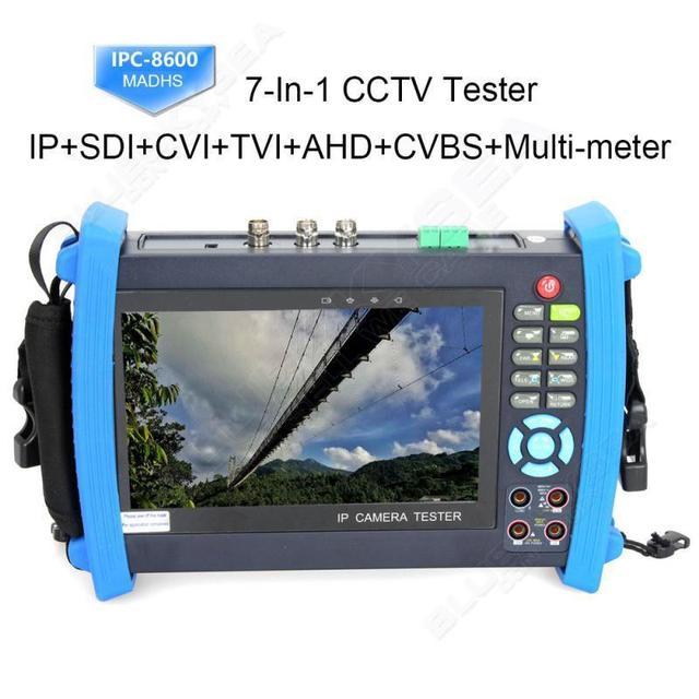 "Frete grátis! IPC8600MADHS 7 ""Touch 1080 P HD SDI CVI TVI AHD CVBS Câmera IP Tester Multímetro"
