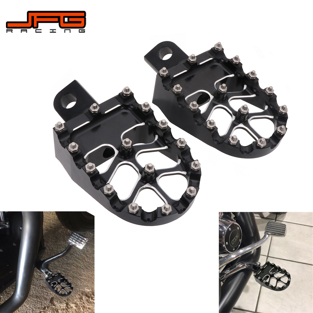Motorcycle CNC Foot Pegs Footpeg Pedals Foot Rests For Harley Softai Touring Dyna CVO Sportster XL1200 XL883 883 Super Glide