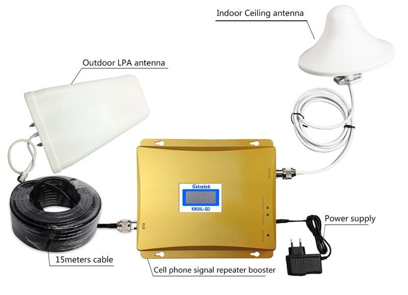 Répéteur GSM 2100 3G amplificateur de Signal cellulaire gsm 900 3G UMTS 2100 mhz amplificateur de téléphone Mobile 900 2100 mhz répéteur antenne 3g S48 - 6