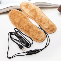 YGF Heating Insoles USB Charging Cables Electric Powered Heated Insoles For Shoes Boots Warming Inserts For