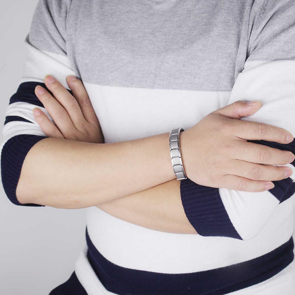 Hapiship Турмалин энергетический баланс браслет Здоровье и гигиена ювелирные изделия для мужчин женщин Германий браслеты и браслет Gem10