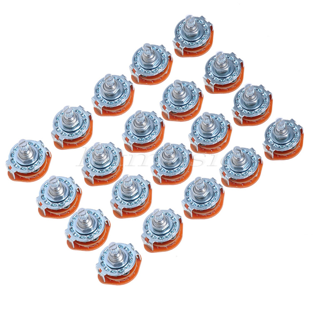 20Pcs 4 Way Guitar Amplifier Rotary Switch For Custom Wiring 4Way