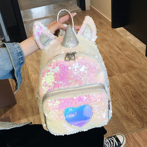Women Glitter Sequins Backpack