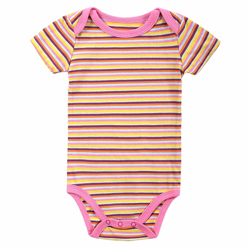 5 Pcslot Retail Baby Girl Clothes Cartoon Baby Bodysuit Girl Boy 0-12M Infant Short Sleeve Creeper Baby Boy Girl Bebe Body Suit (3)