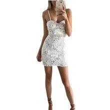 MUXU summer white lace mini dress women backless suspender bodycon dresses robe femme ete vestidos verano sexy moulante