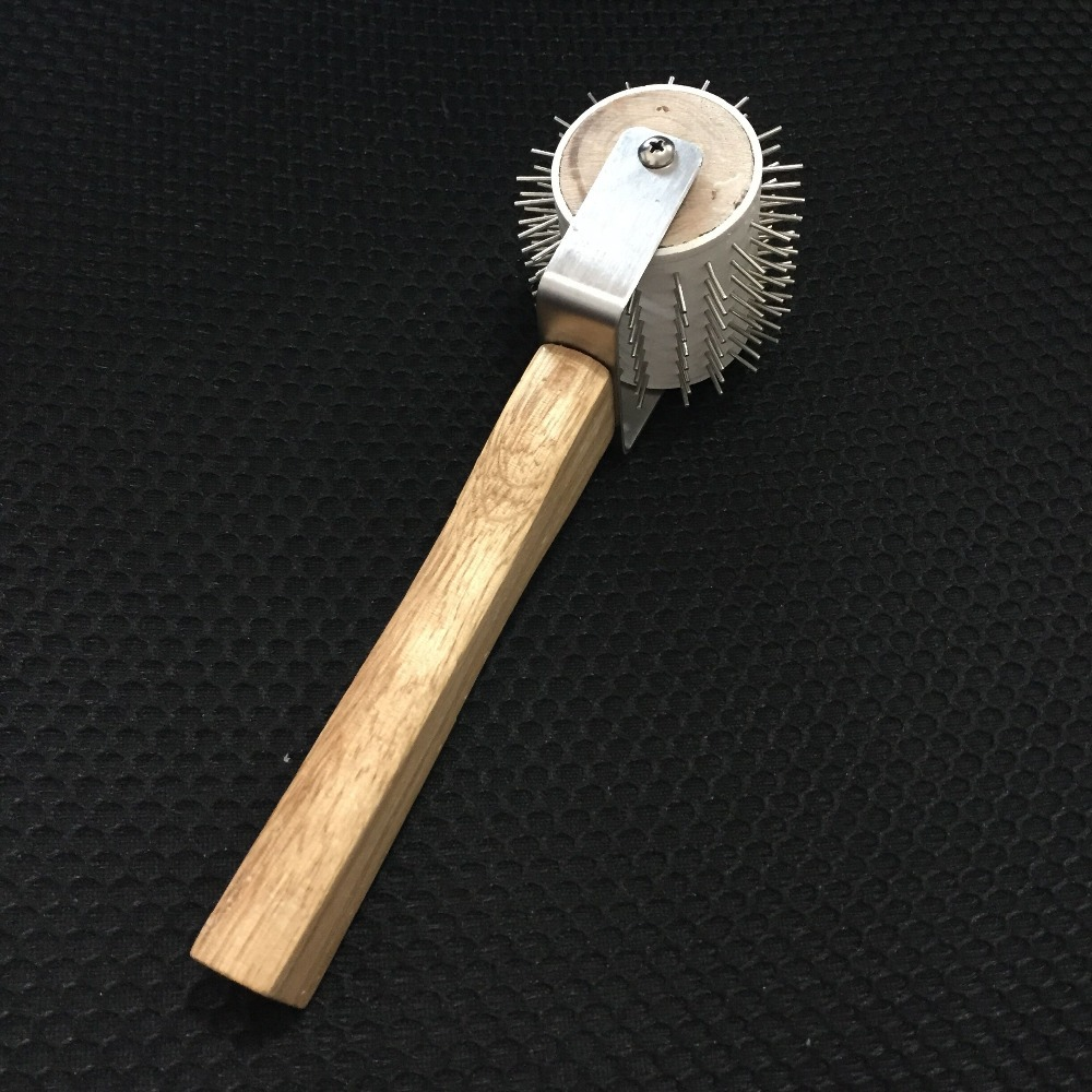 Uncapping Stainless Needle Roller Honeycombs Extracting Bee Keeping Tool 1pc plastic uncapping needle roller bee honey extractor tool 29 5cm length for beekeeping equipment