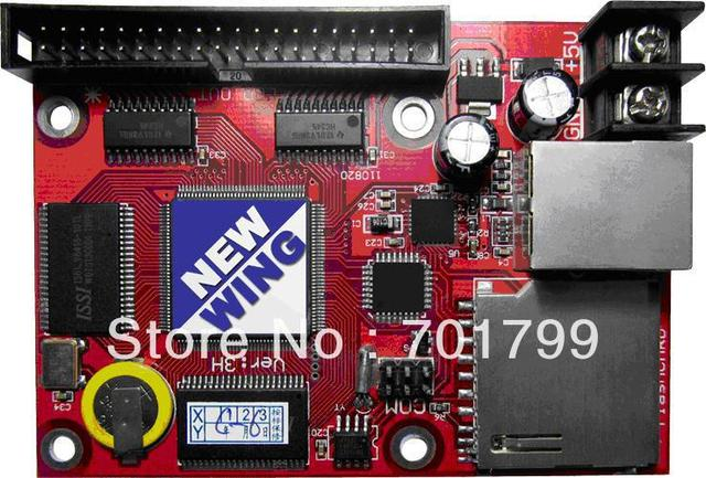 Full color led display control card with hub transfer board,support both synchronous and asynchronous;32768 pixels controlled