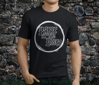 a29ded66b Man Fashion Round Collar T Shirt New Hot Popular Panic At The Disco  American Rock Band