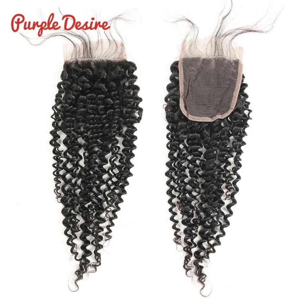 3/4 пучки кудрявые с закрытием настоящие человеческие волосы Remy с закрытием Связки малайзийских волос с кружевом для продажи