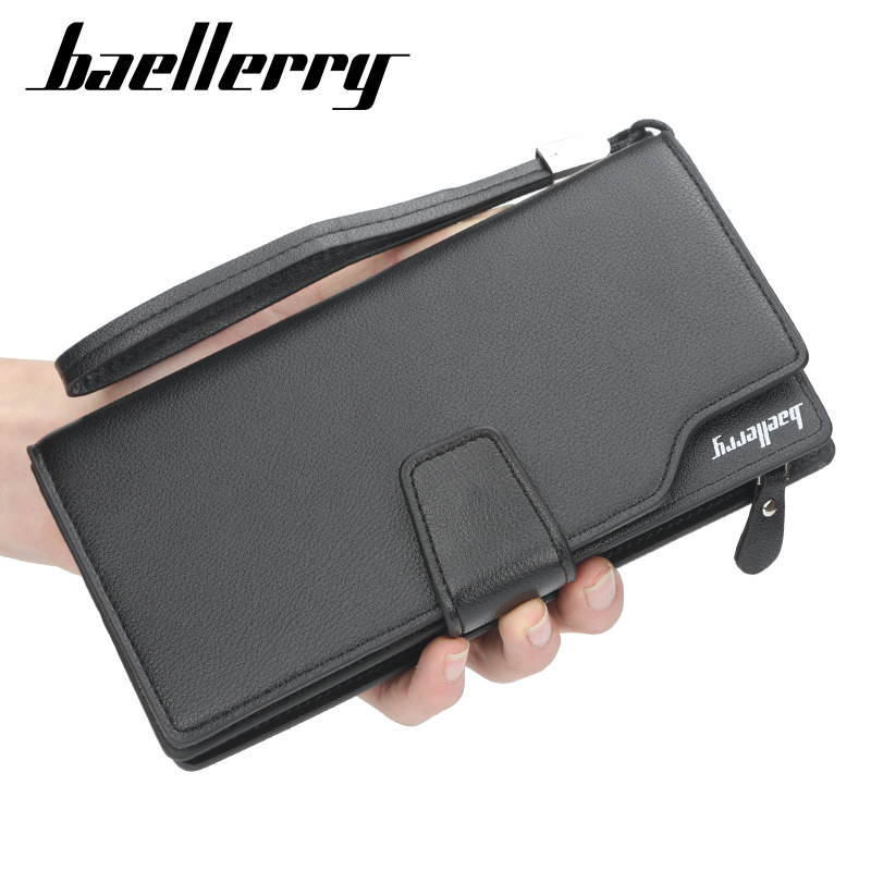 Baellerry Brand Men Wallets With Coin Pocket Purse Casual Fashion Zipper Wallet Men Business Card Holder Male Clutch Money Bag