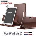 Case for iPad Air 2 for iPad 6, ESR Business PU Leather Auto Wake/Sleep Folio Stand 360 Rotating Case for iPad Air 2 for iPad 6