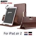 Caso para o ipad air 2 para ipad 6, esr negócios pu couro auto wake/sono folio stand 360 rotating case para ipad air 2 para ipad 6
