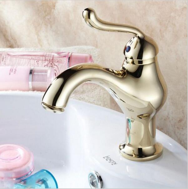 Bathroom Faucets Gold Finish popular gold color bathroom faucets-buy cheap gold color bathroom