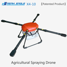 Drone X4-10 10 KG Untuk perlindungan tanaman Pertanian Penyemprotan Tak Berawak RC Drone UAV kosong bingkai serat karbon Pertanian
