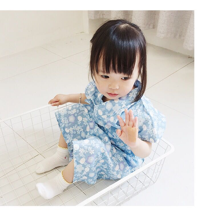2017 autumn child novelty cosplay floaral dress japanese baby girl kimono dress children vintage yukata kid girl dance costumes
