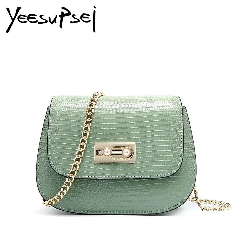 YeeSupSei Mini sac en cuir de peau de serpent pour femme pochette chaîne dorée sac à bandoulière Designer sac à main pour femme sac à main bolso mujer