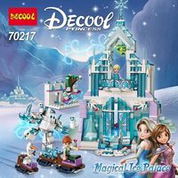 Decool 70217 Snow World Series The Elsa`s Magical Ice Castle Set Building Blocks Bricks Toys Girl Friend Compatible with 41148