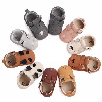 Śliczne dziecięce buty dla dziewczynek mokasyny miękkie buty 2020 wiosna kot dziewczynka trampki maluch chłopiec buty dla noworodka pierwszy Walker tanie i dobre opinie MUPLY Patch Wiosna jesień Pasek klamra Animal prints Dla dzieci Unisex Pierwsze spacerowiczów Pasuje prawda na wymiar weź swój normalny rozmiar