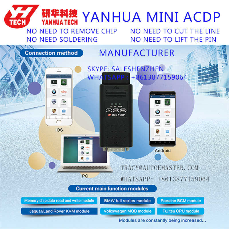 Detail Feedback Questions about Yanhua Manufacturer Mini ACDP Full