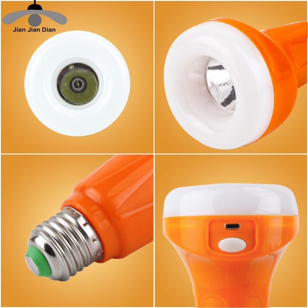 JJD Emergency E27 Base Rechargeable Lighting Lamp 9W 220V Led Bulb Bombillas LED Lamp Leds Light