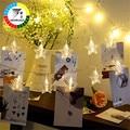 Coversage Led Batterie Weihnachten Baum Girlande String Xmas Star Vorhang Navidad Vorhang Fee Urlaub Lichter Dekorationen|LED-Kette|Licht & Beleuchtung -