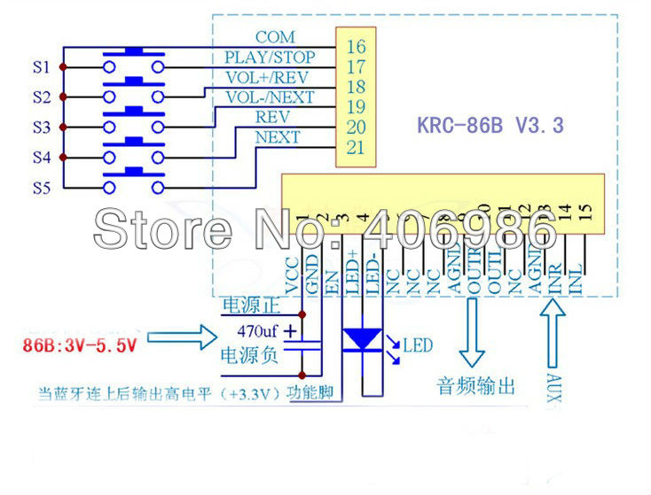 Bluetooth Stereo Audio Rreceiver Board Modification Wireless Speaker Amplifier Module KRC 86B V4 0 amplifier module picture more detailed picture about bluetooth  at bakdesigns.co