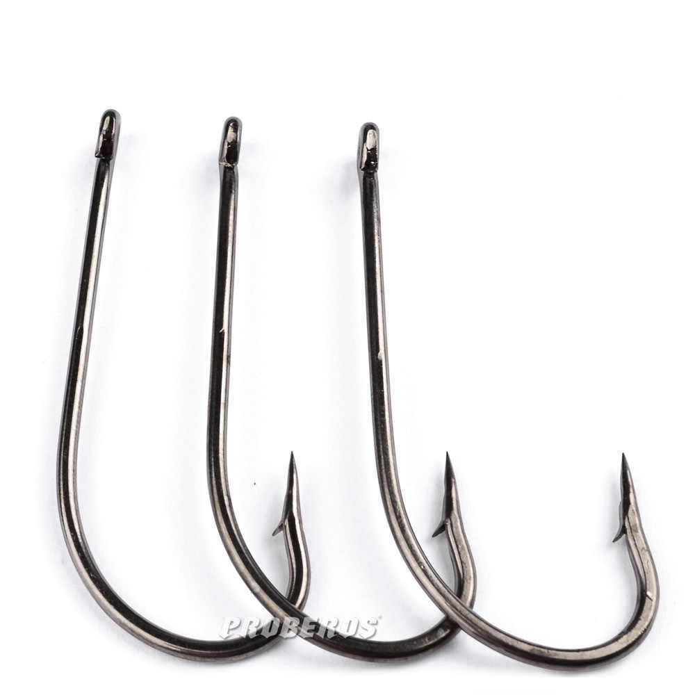 10pcs 1#-8/0 Saltwater Fresh Water Long Shank Barbed High Carbon Steel Fishhook Carp Jig Fishing Accessories Hook Fly Fish hook