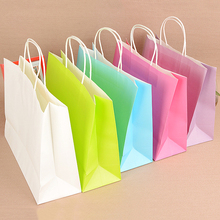5PCS/lot Multifunction stationery holder soft paper bag with handles/21x15x8cm / Festival gift bag/ High Quality kraft paper