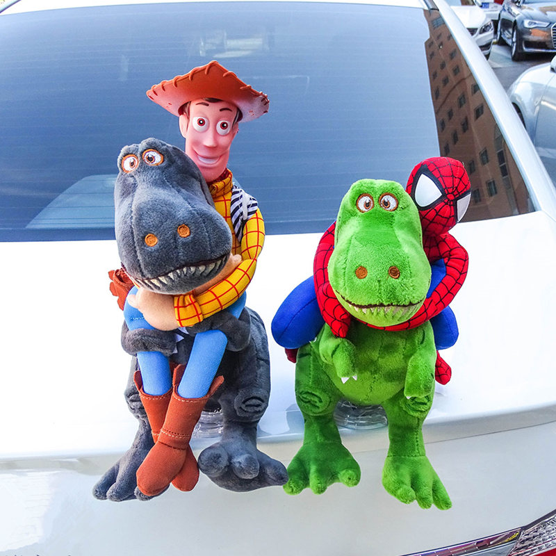 Handmade Funny Car Dolls Dinosaur Interesting Toys Cartoon Auto Tails Creative Hanging Doll Automobiles Exterior Accessories emblem