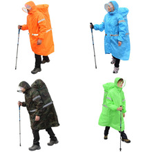 HW2016 NEW arrival  Outdoor Camping Hiking Backpack Rain Cover One Piece Raincoat Poncho M/XL
