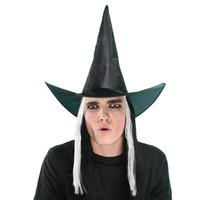 X MERRY TOY Women S Large Party Witch Hat Funny Clown Festival Cosplay Costume Wigs Fashion