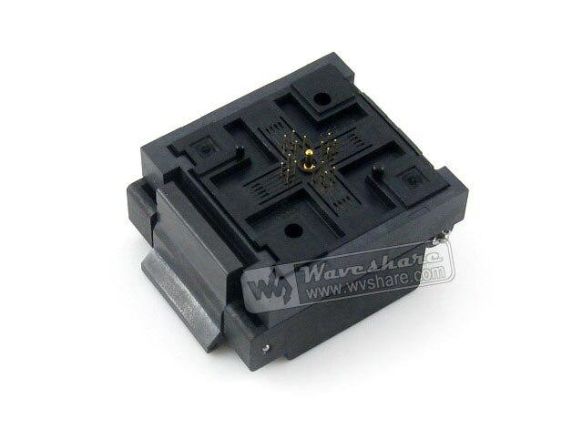 Parts QFN16 MLP16 MLF16 QFN-16BT-0.65-01 QFN Enplas 0.65Pitch 4x4mm IC Testing Burn-in Socket Programming Adapter with Ground Pi p301 16 qfn
