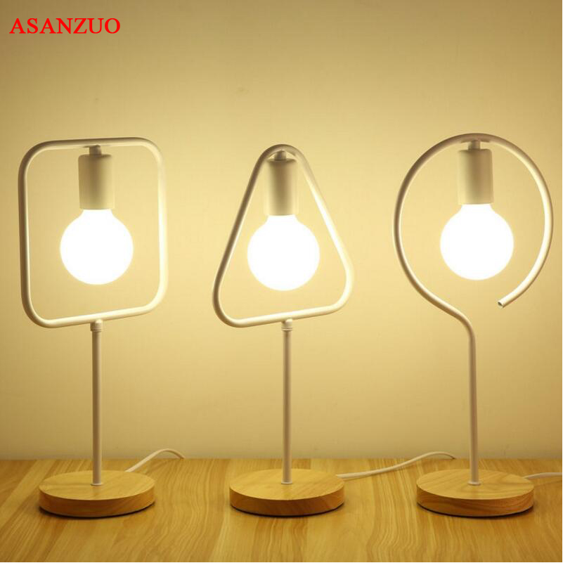 Nordic creative table lamp for bedroom bedside simple personality desk reading decorative LED table lamp nordic creative table lamp for bedroom bedside simple personality desk reading decorative led table lamp