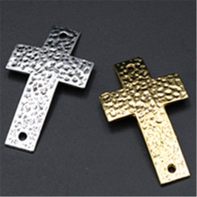 New 6pcs Antique Silver/Gold Crosses Connector Holy Cross Pendant Religion Curved Charm DIY Handmade Jewelry Accessories