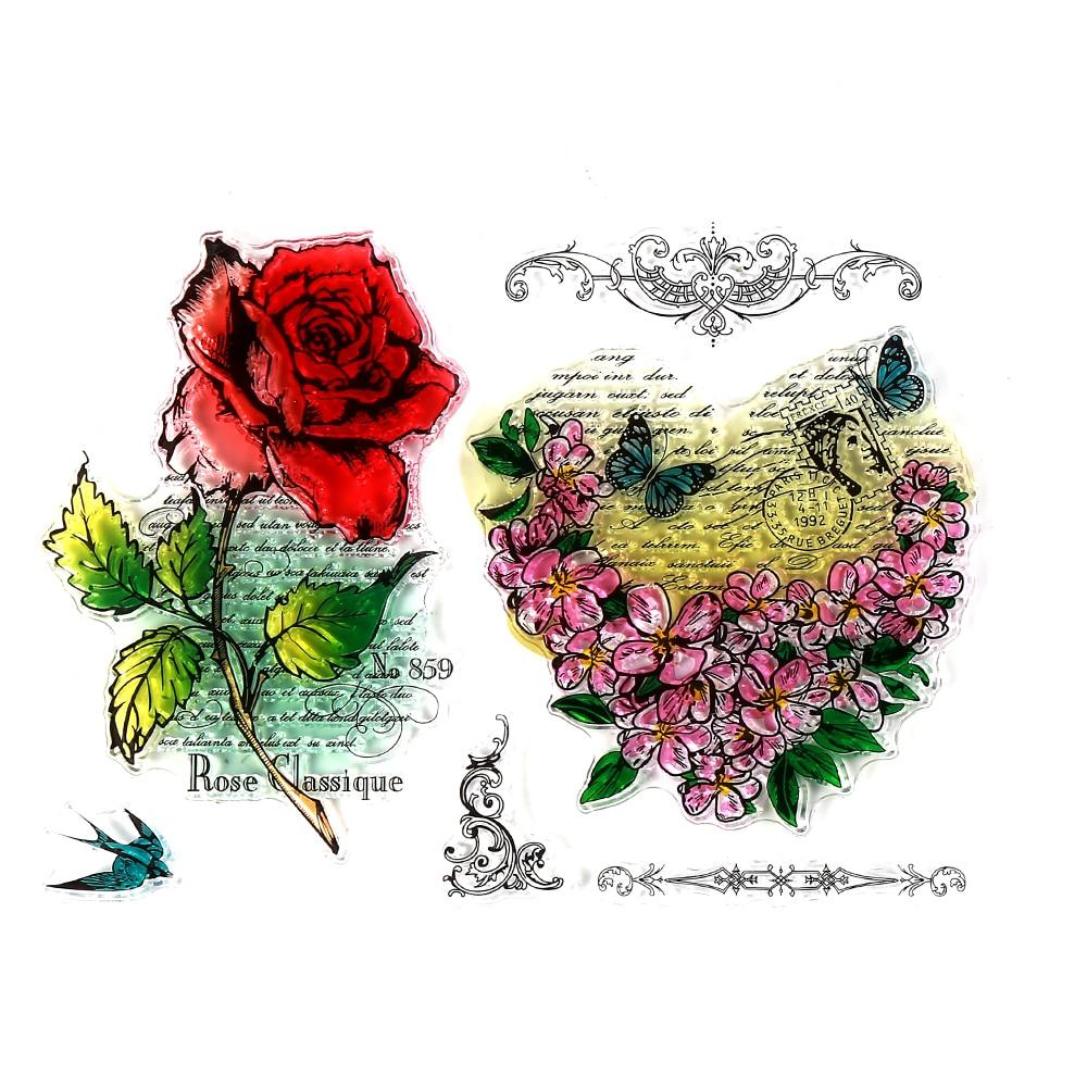 CCINEE Color Flower Style One Sheet Stamp VASE Design Seal For DIY Scrapbooking/Card Making/ Decoration Supplies
