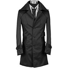 Spike ! Fashion new designer slim sexy trench coat men overcoat long sleeve mens clothing business outerwear casaco masculino turn down collar medium long loose trench coat men overcoat long sleeve mens clothing fashion outerwear casaco masculino black