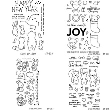 AZSG Various Lovely Animals Silicone Clear Stamps/Seals For Scrapbooking DIY Clip Art / Album Decoration Stamps Crafts