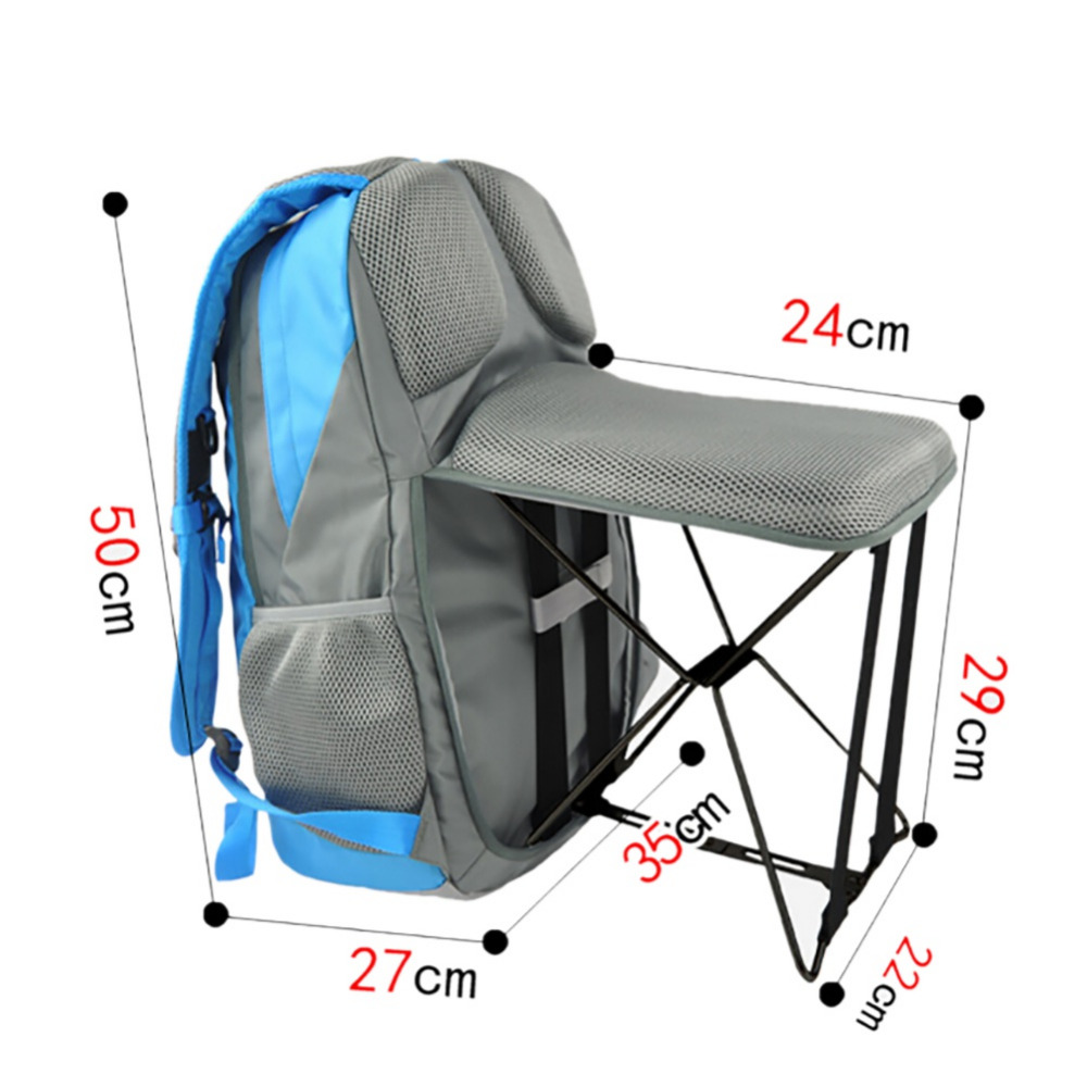 Backpack fishing chair - Outdoor Fishing Chair Portable Folding Stool Backpack Portable Trave Climbingl Outdoor Use Chair Backpack China
