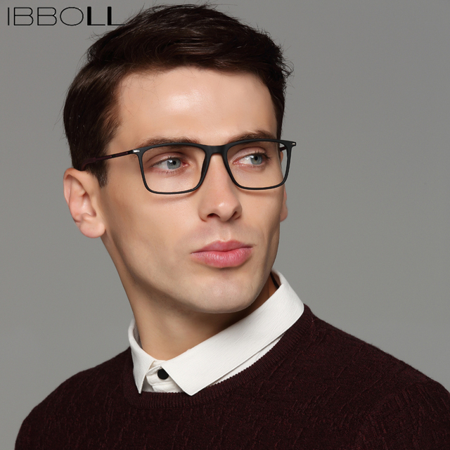 ibboll Men Classic Optical Glasses Frame with Clear Lens Fashion ...