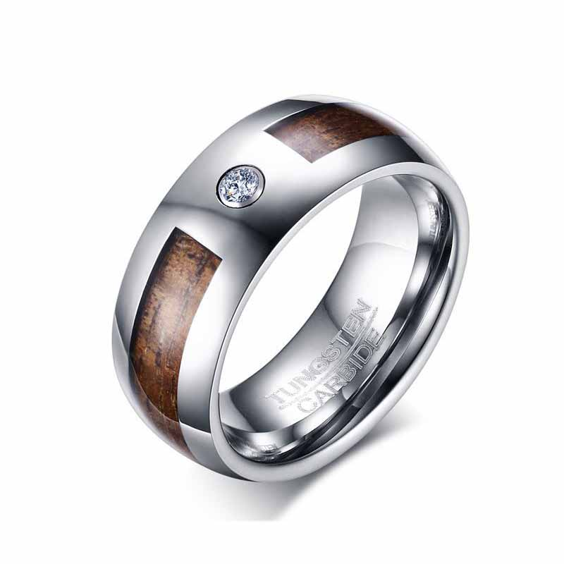 Security Jewelers Ceramic /& Tungsten 8.3mm Band with Gold Immerse Plating Size 9 Ring Size 9
