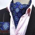 Qxy мужская мода свадьбы формальные галстук самостоятельно британский стиль полиэстер шелковый шейный платок мужчины галстук платок роскошные галстуки