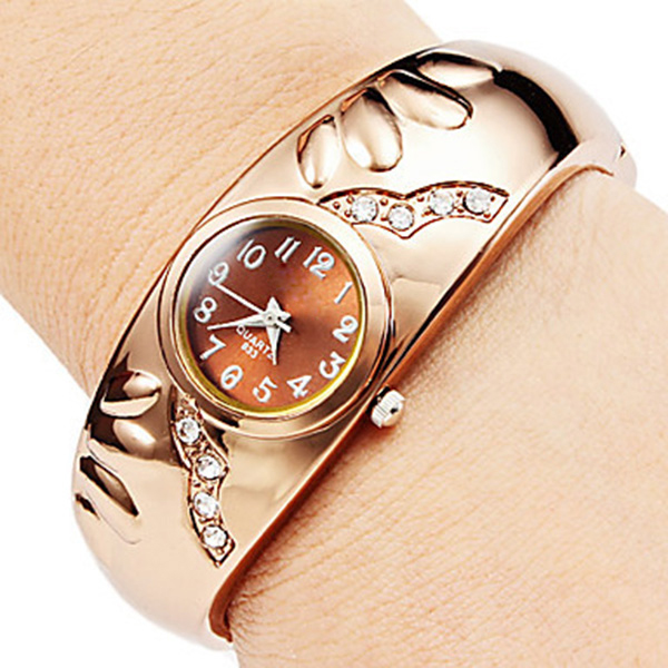 Rose Gold Watch Lady Luxury Bracelet Watches Fashion Crystal Diamond Women Watches Luxury Ladies Watch Clock For Birthday LL@17 2016 new watch creative fashion lady love rose gold bracelet watch korea version of the trend of personalized watches