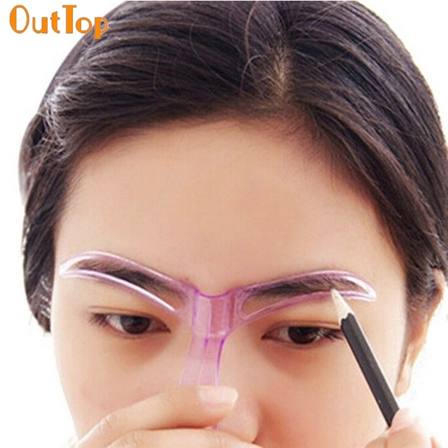 OutTop Colorwomen Professional Beauty Tool Makeup Grooming Drawing Eyebrow Template 160913                      S28 HW 1