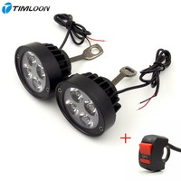 Newest A Pair 12V 85V Super Light Waterproof Motorcycle LED Headlight Locomotive Spotlight Assist Lamp Rearview