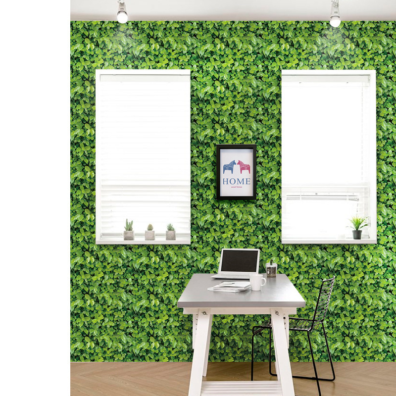 Green Grass Self adhesive Wallpaper Waterproof Wall Paper Brick Home Decorative Wall Sticker Bedroom HomeDecor SA 1020 in Wallpapers from Home Improvement
