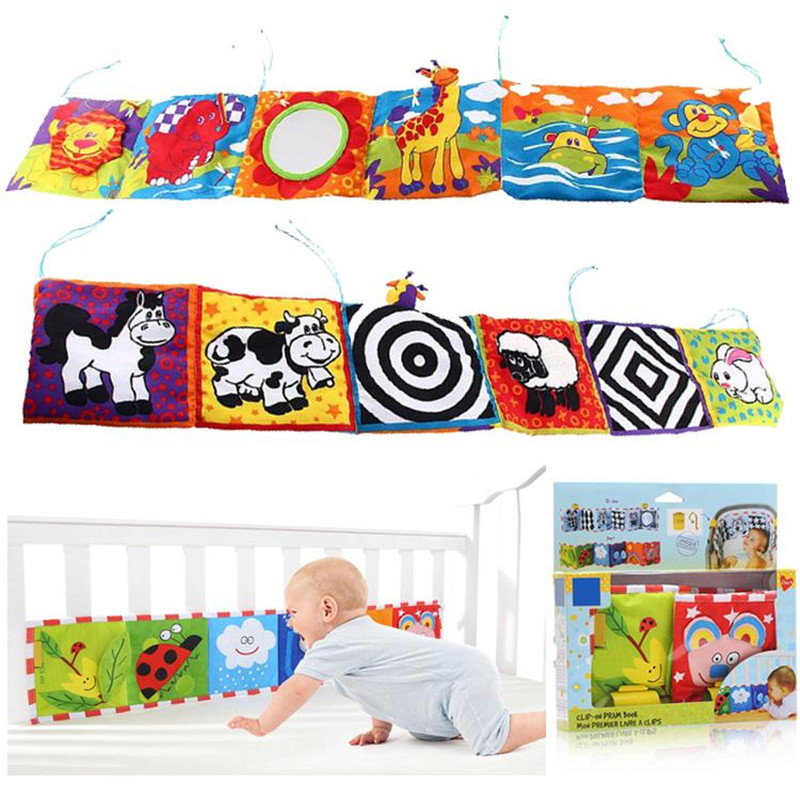 Kids Mirror Animal Bed Cognize Cloth Book Infant Baby Toy Cute Popular