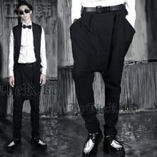 Spring and summer men's clothing tidal current harem pants casual pants large pocket pants