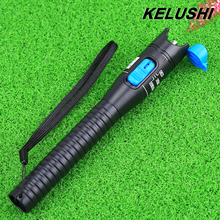 KELUSHI Plastic Visual Fault Locator Red Light Source VFL 5mW Fiber Optic Cable Tester Range1-5km For CATV with 2pcs Sleeve Core