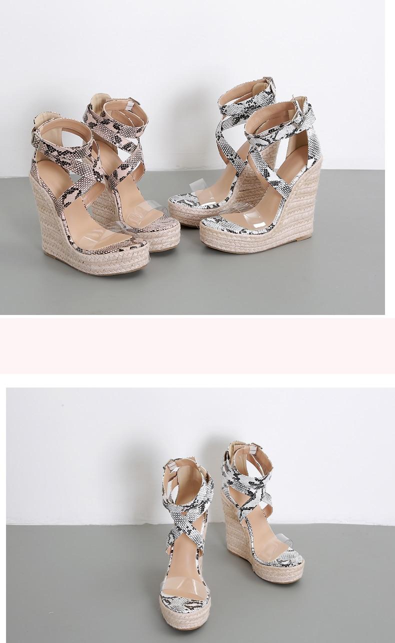 HTB1Cya8P9zqK1RjSZFLq6An2XXas Eilyken Summer Women Platform Sandals Gladiator Fashion High heels Wedges Espadrilles shoes Ladies Open toe Sandals Serpentine